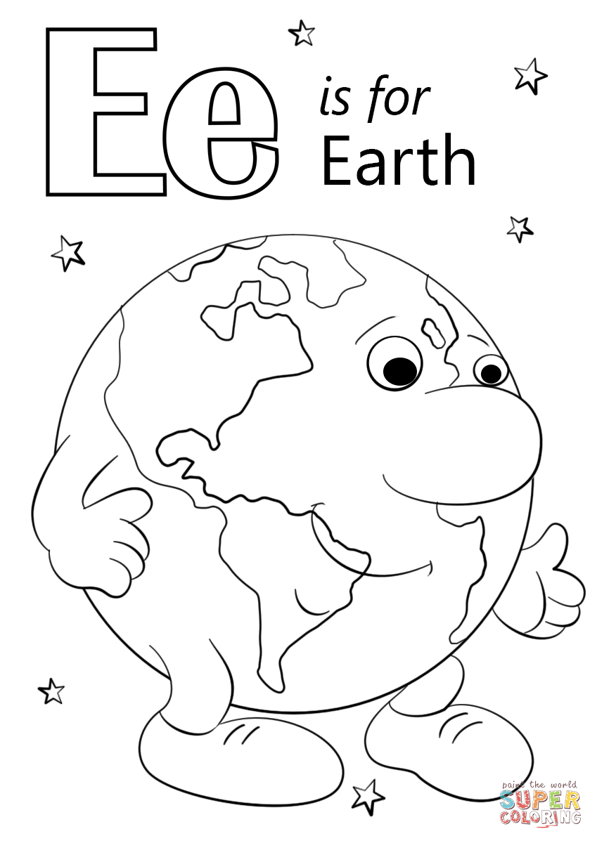 Free Coloring Pages For Earth Day