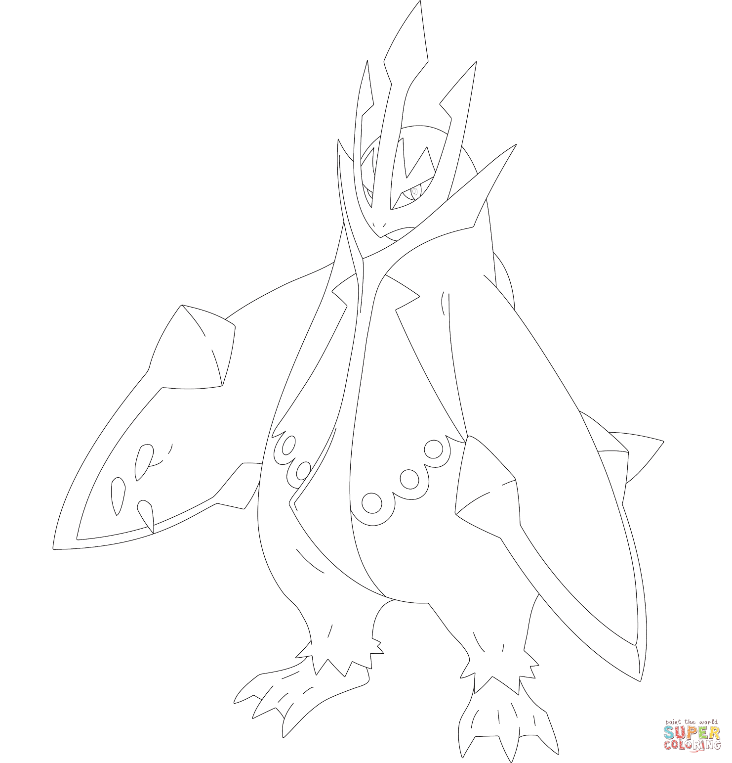 Empoleon Coloring Page - Coloring Home