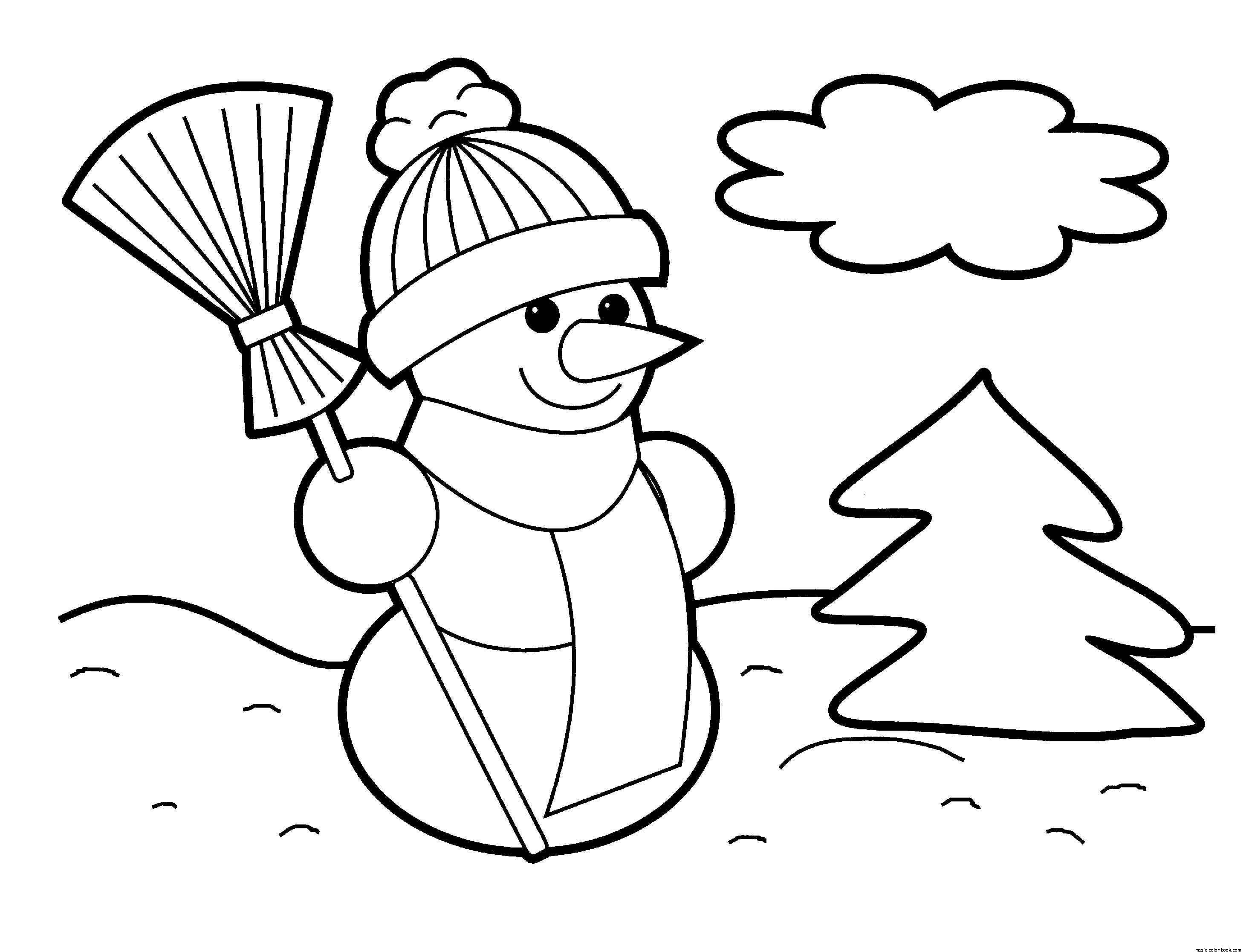 Coloring pages printable free christmas - Free Coloring Pages For Christmas To Print Winter Free Online Color Pages For Kids Magic