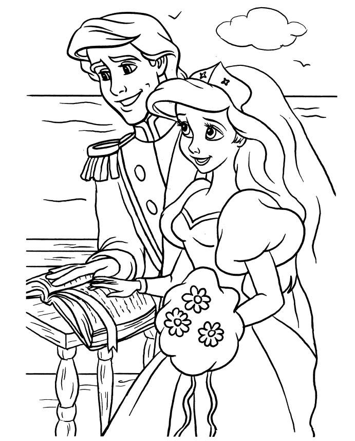 Wedding Cartoon Coloring Pages