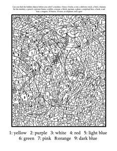 Coloring Pages With Numbers Hard - Coloring Home