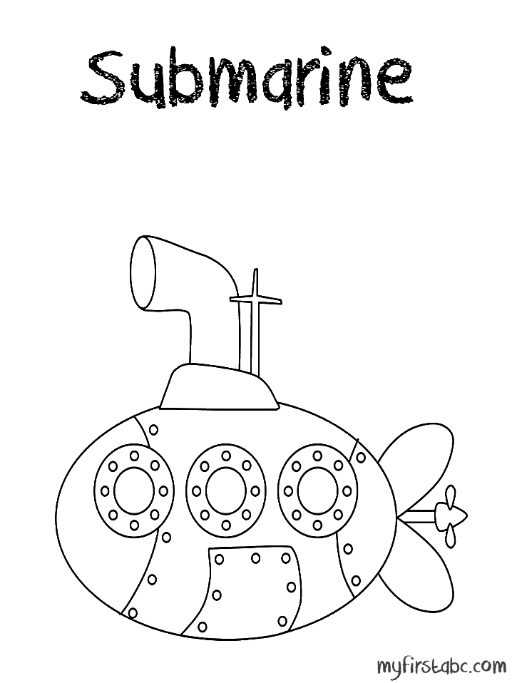 submarine and coloring pages - photo#18