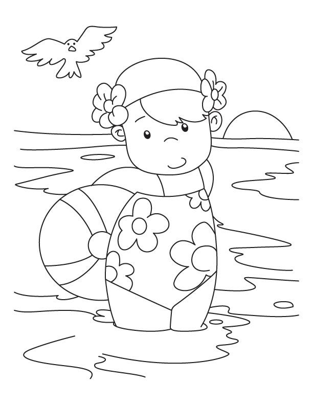 National Water Safety Month Coloring Page summer safety | Sun ... | 792x612