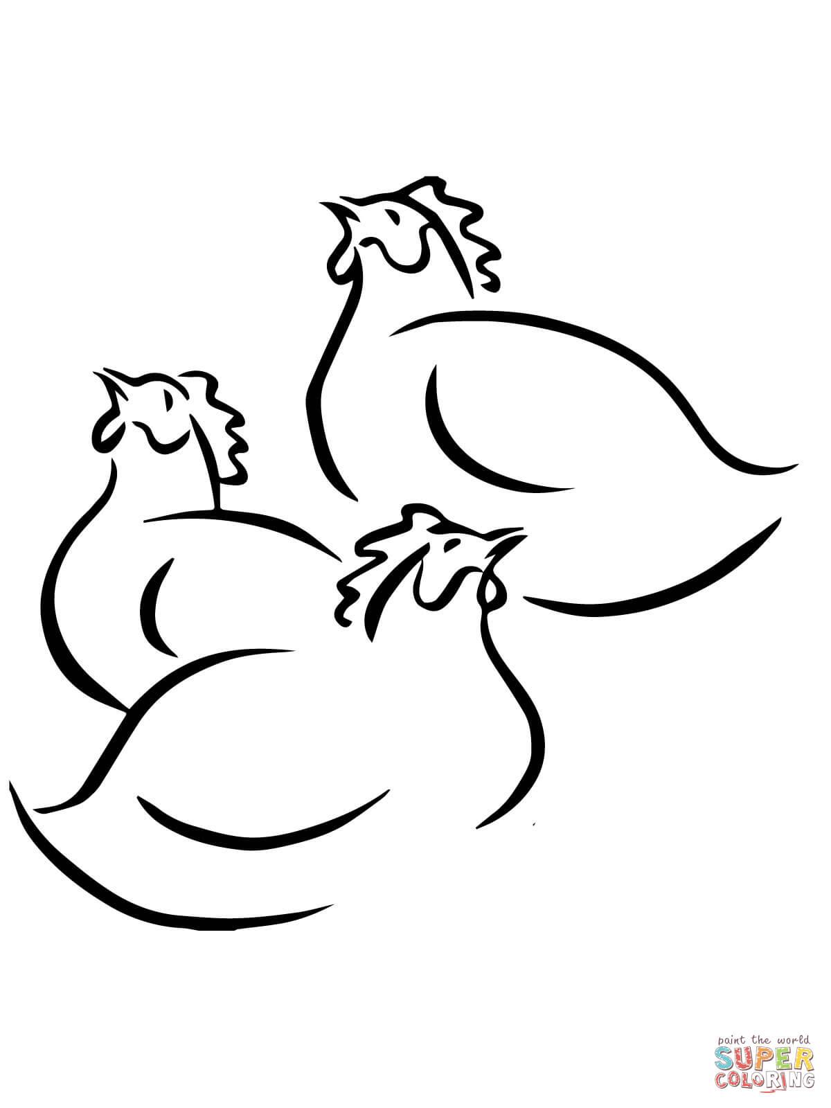 Chicken coloring