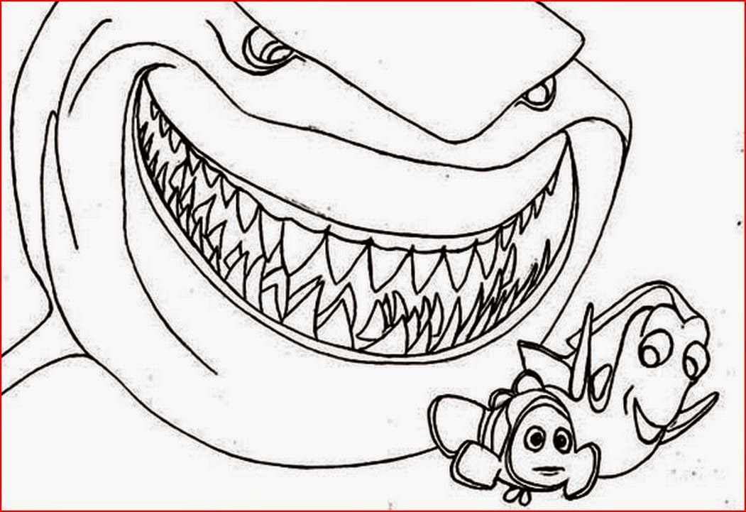 Simplicity image with free printable shark coloring pages