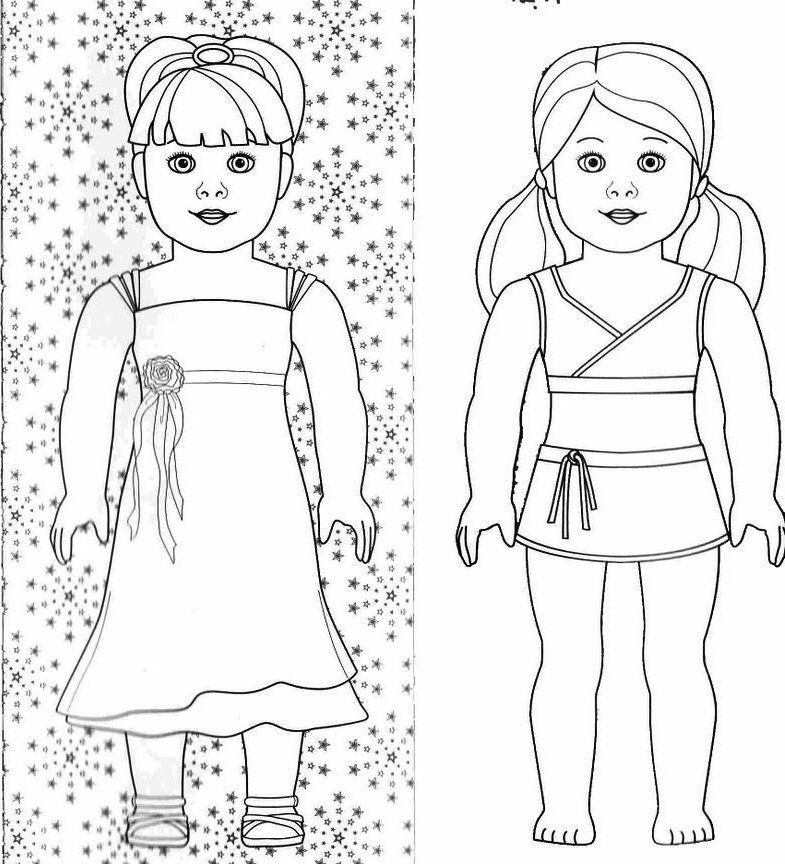American Girl Doll Coloring Pages To Download And Print For