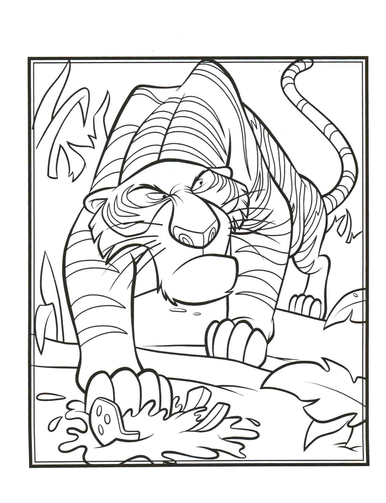 jungle coloring pages for adults - coloring pages of jungle book coloring home