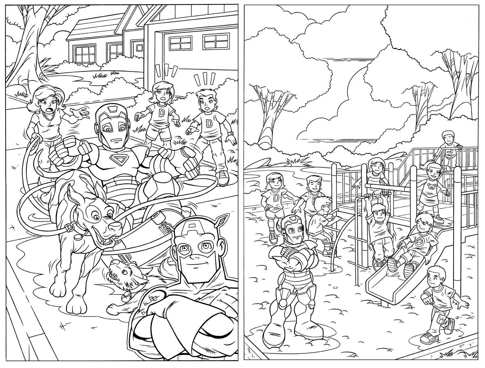 Marvel super hero squad az coloring pages az coloring pages for Super hero squad coloring page