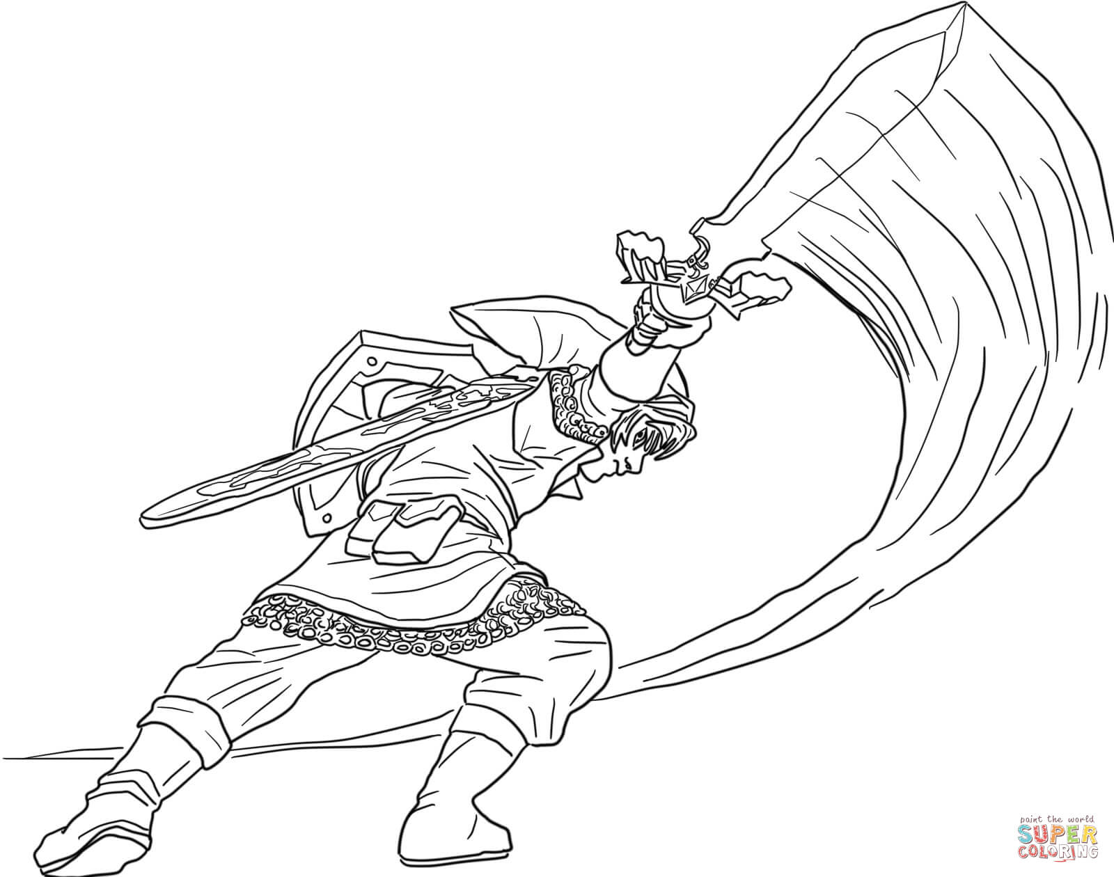 Link From Legend Of Zelda Coloring Page Free Printable Coloring Coloring Home
