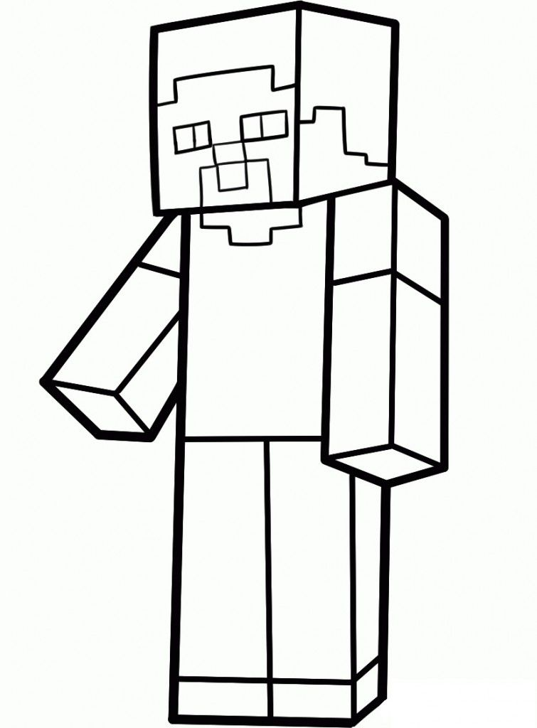 Minecraft Zombie Coloring Page - Coloring Home