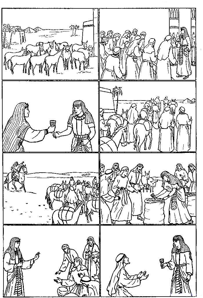 bible coloring pages of joesph - photo#23