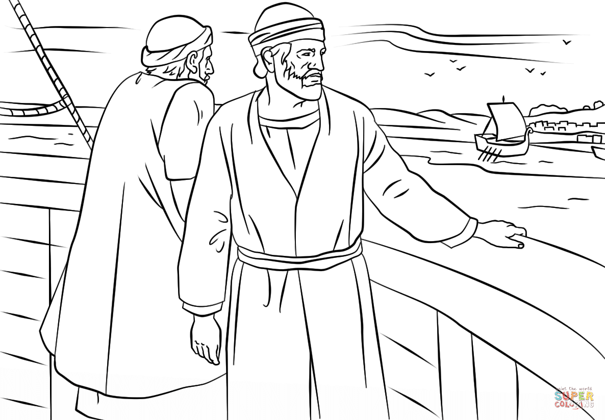 childrens coloring pages peter paul - photo#10