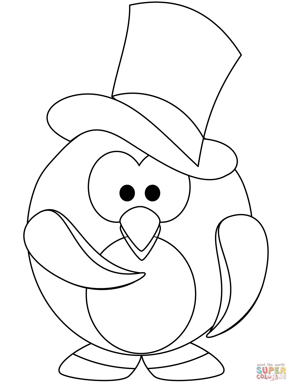 Cute Penguin Coloring Pages Coloring