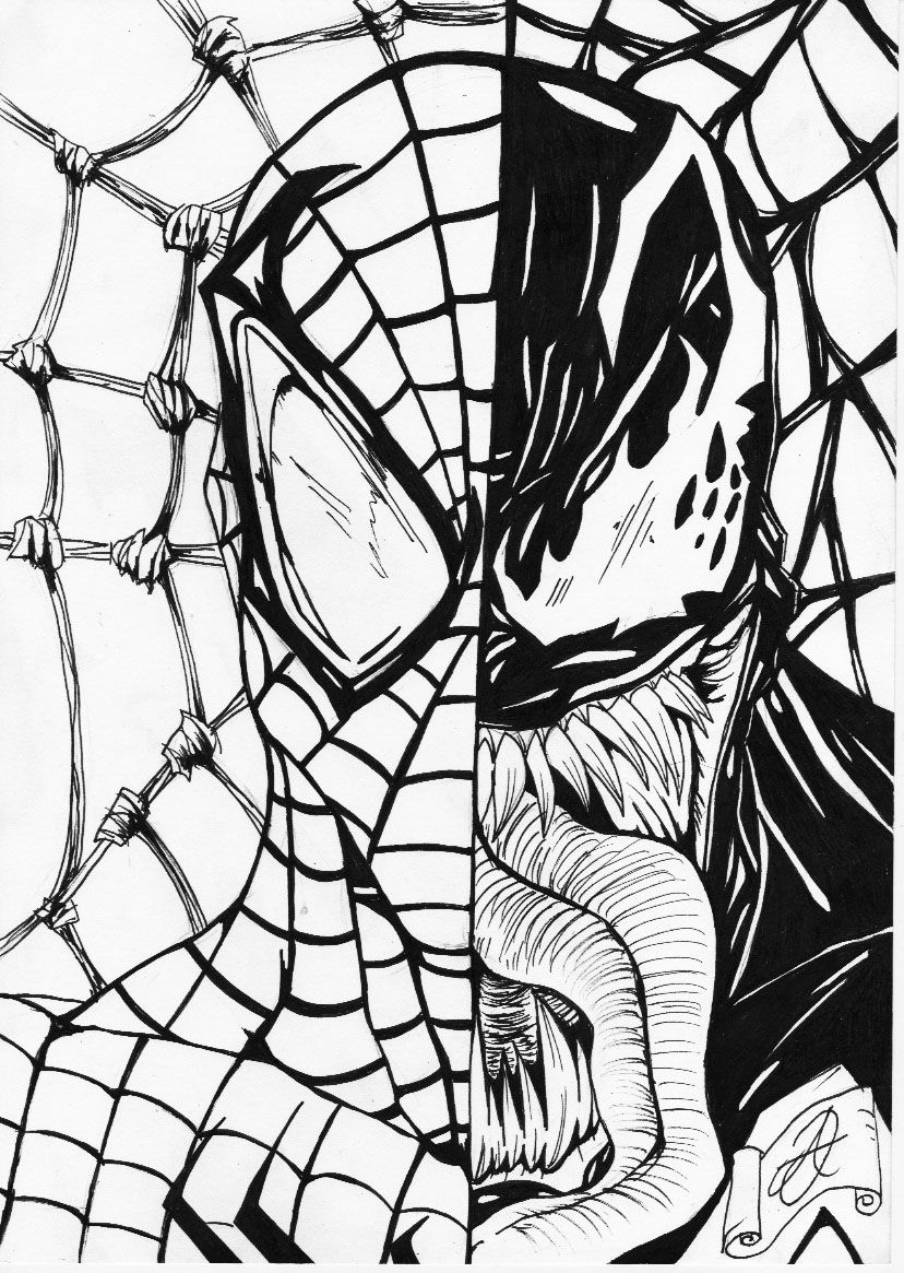 Coloring Pages Spiderman Venom Coloring Pages spiderman and venom coloring page az pages free coloring