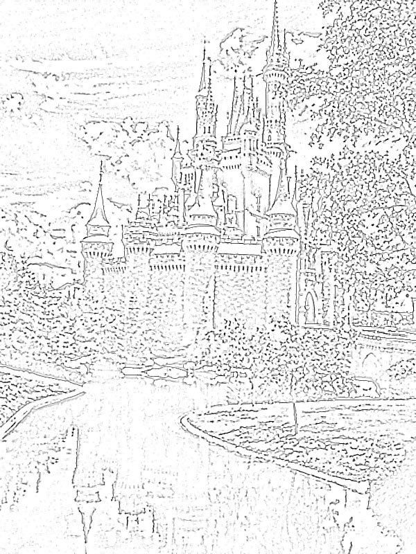 Magic Kingdom Florida Coloring Pages - Coloring Home