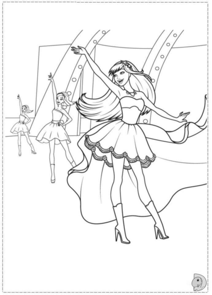 Coloring Pages Pop Stars - Coloring