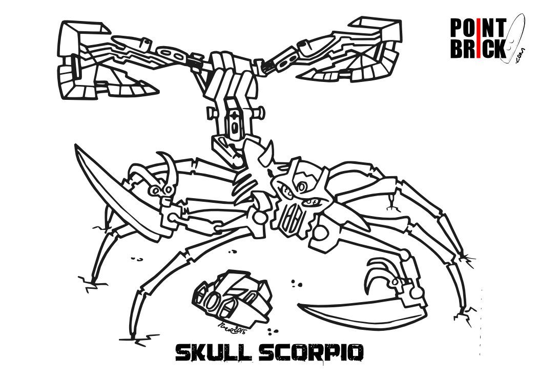 Ausmalbilder Hulk Lego: Lego Bionicle Coloring Pages