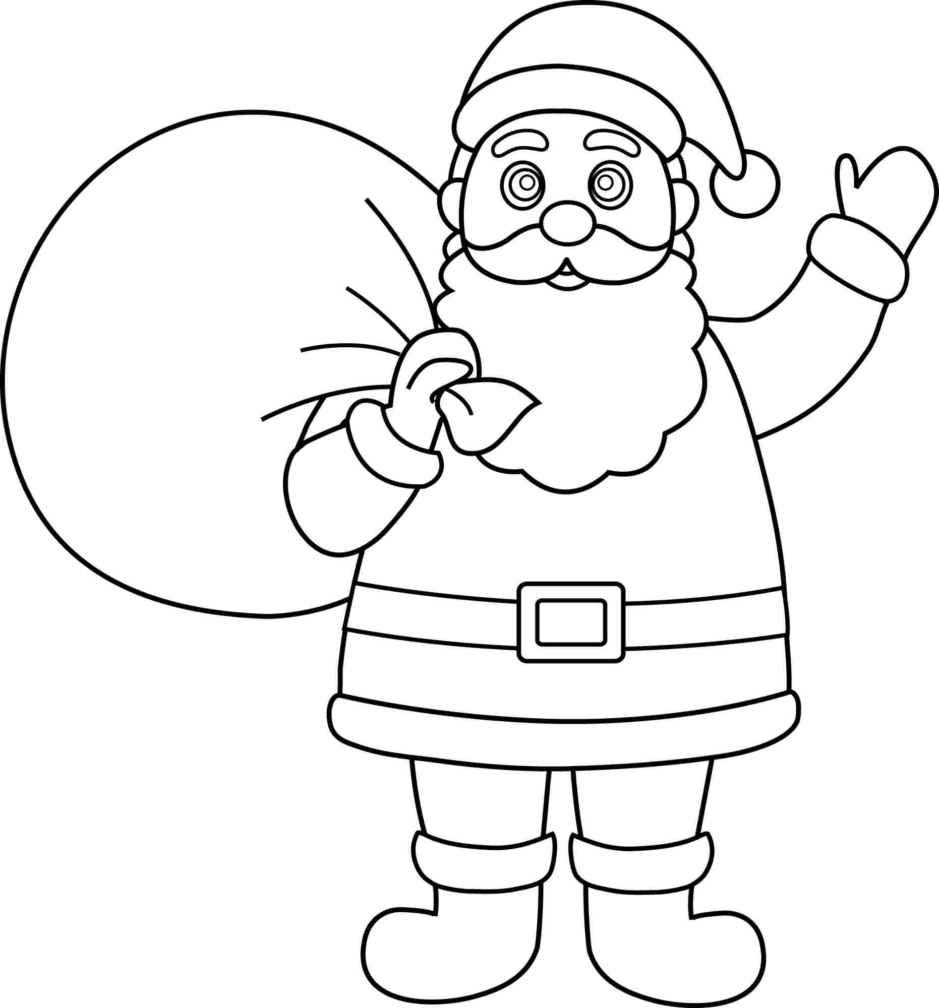 100 ideas Santa Claus Face Coloring Page on kankanwzcom