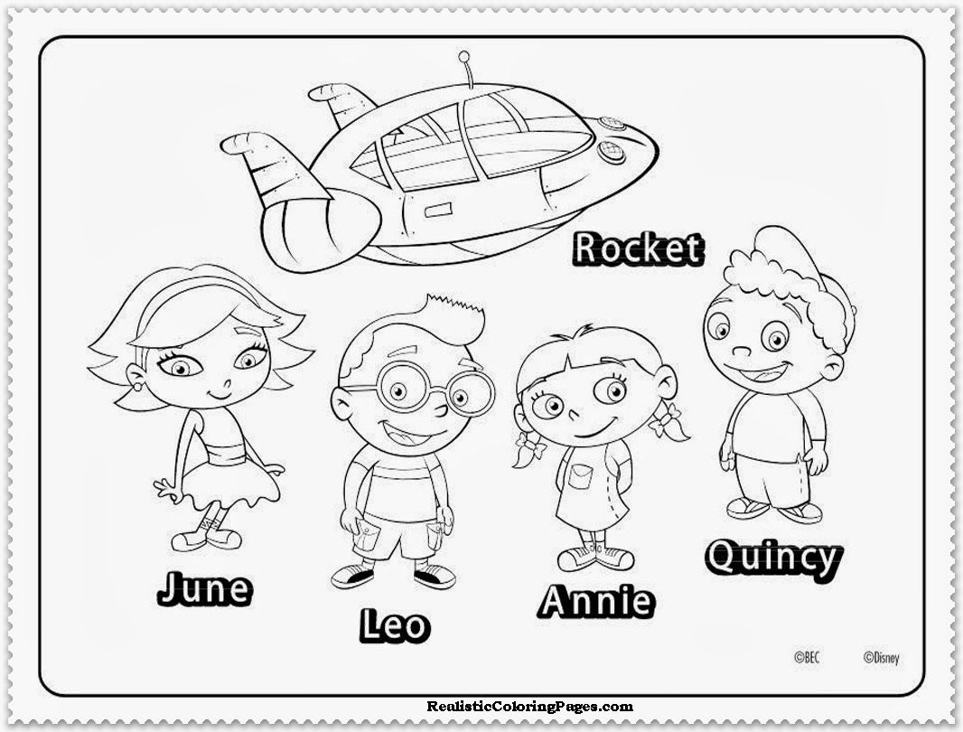 little einsteins coloring pages free coloring home