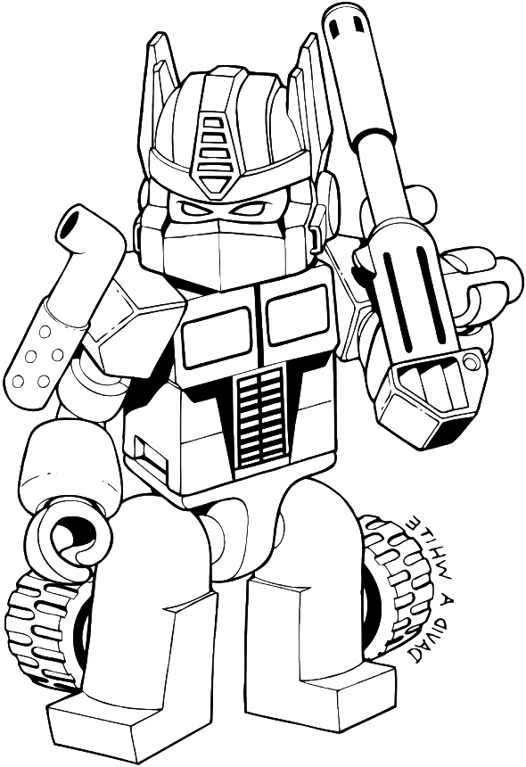 Download Lego Optimus Prime Coloring Page, HD Png Download - uokpl.rs