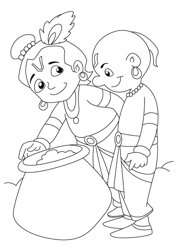 Krishna: Coloring Pages & Books - 100% FREE And Printable ...