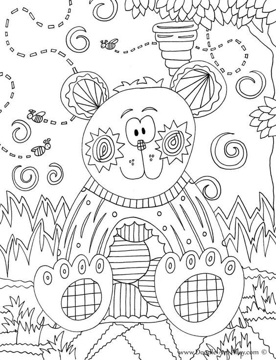 Forest Animal Coloring Pages Doodle Art Alley Color Pages - Coloring  Home