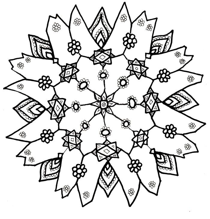 Christmas Coloring Snowflakes Snowflake Color Sheet. I ...