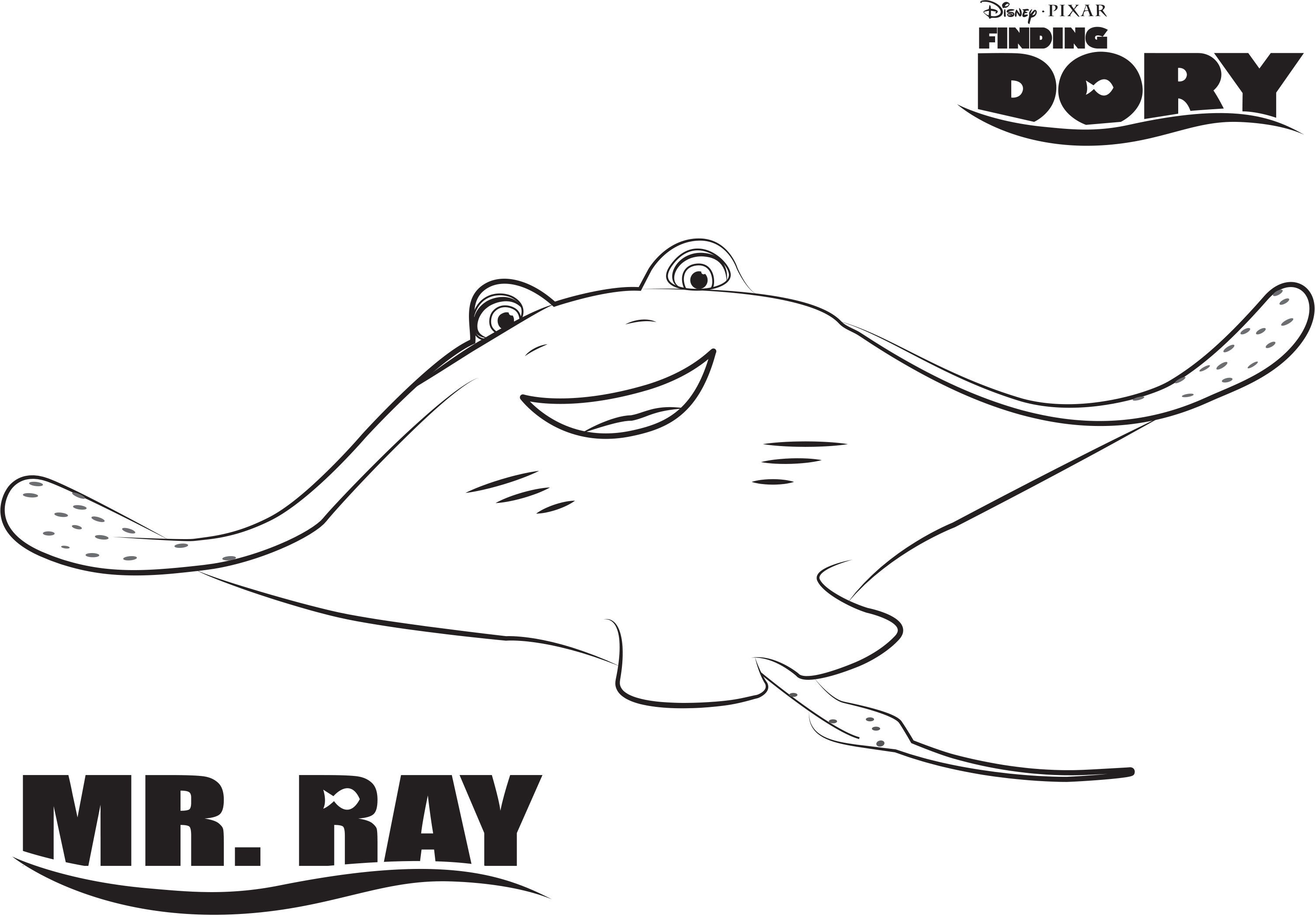 dory finding dory printable coloring page - Stingray Coloring Pages Printable