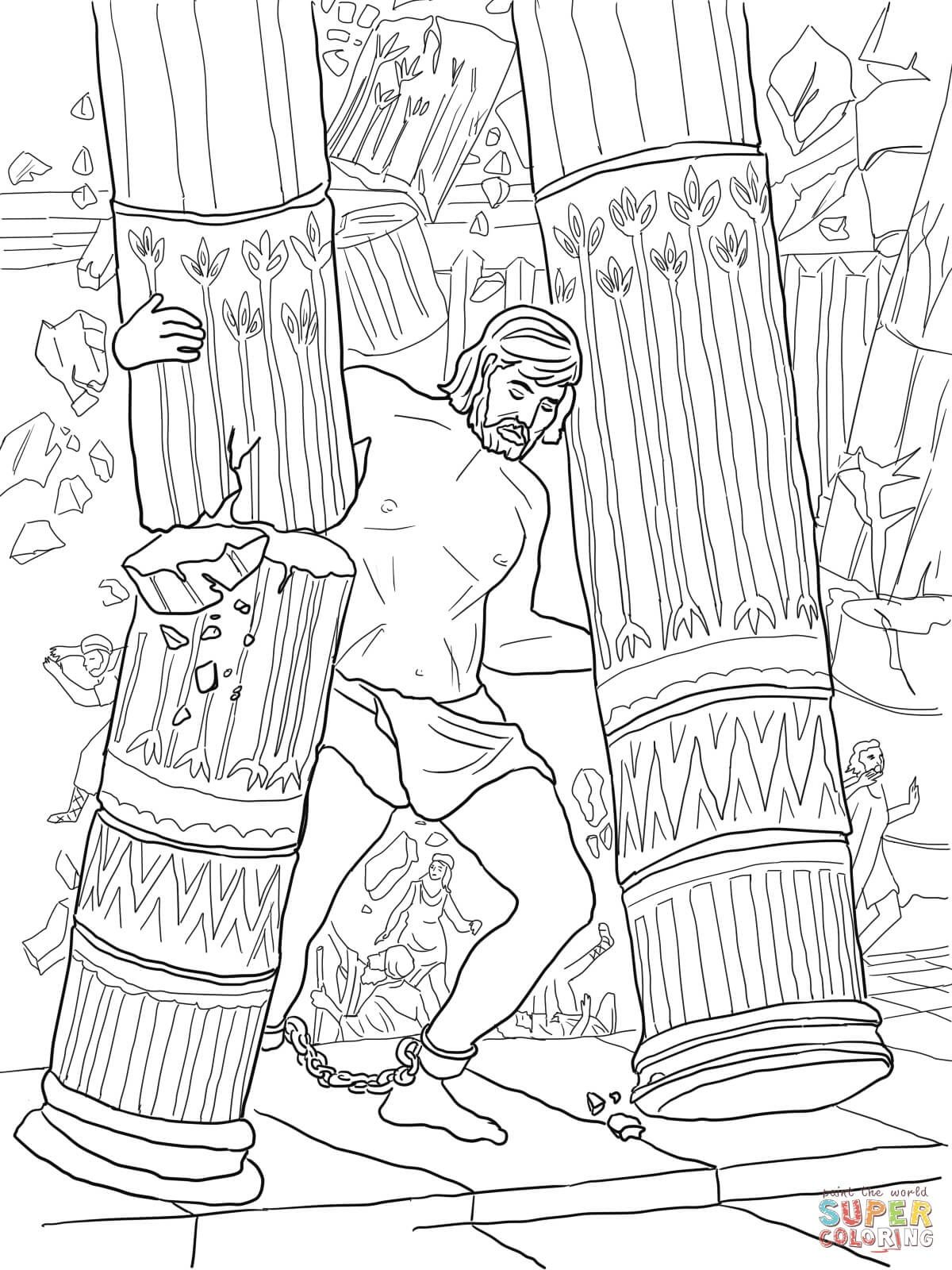baby samson coloring pages samson coloring page samson and delilah coloring home