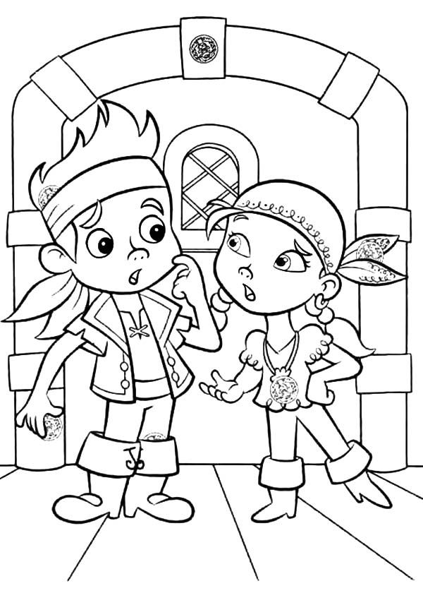 jake and the neverland pirates free printable coloring pages - jake and the never land pirates coloring pages az