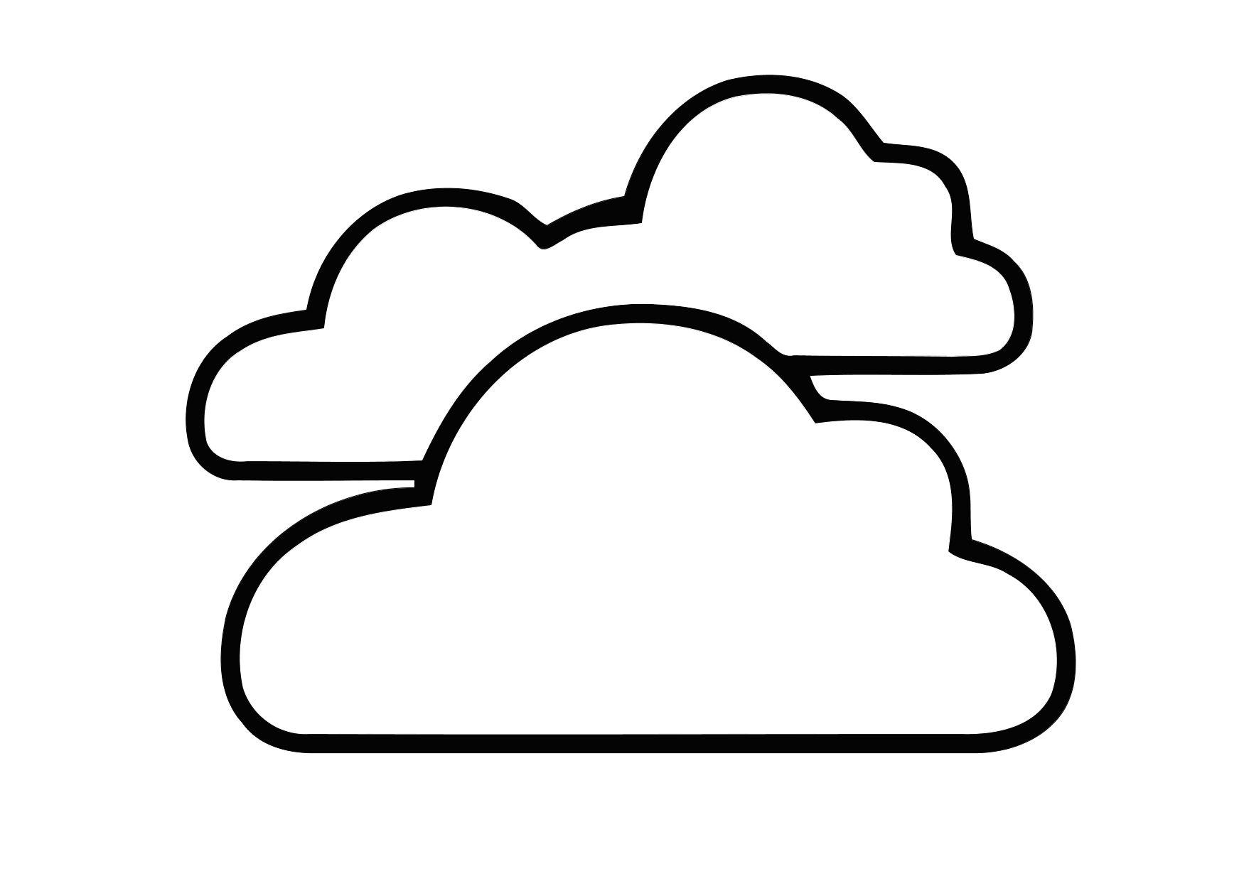 Cloudy Coloring Pages - ClipArt Best