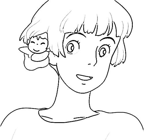 Coloring Pages Ponyo Page 1