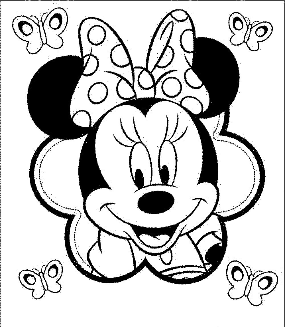 minnie mouse coloring pages a4 - photo#6