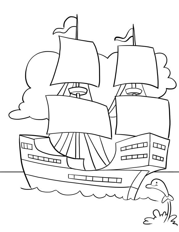 the mayflower coloring pages - photo#20