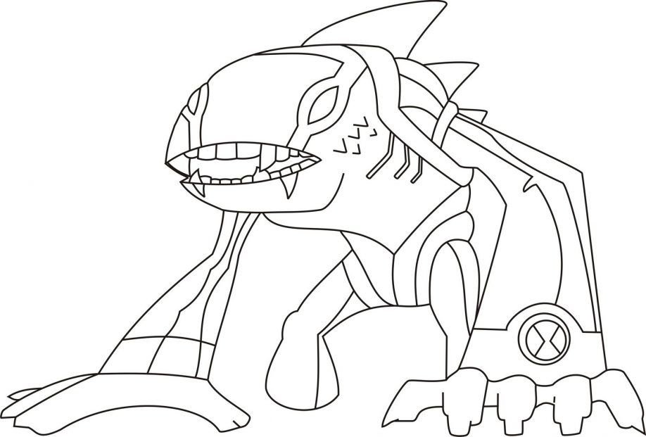 Ben 10 Pictures Coloring Games Pages Free Download