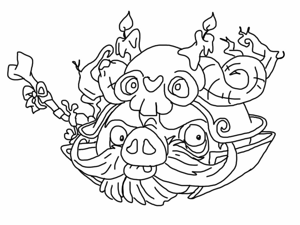 Angry Birds Stella Coloring Pages