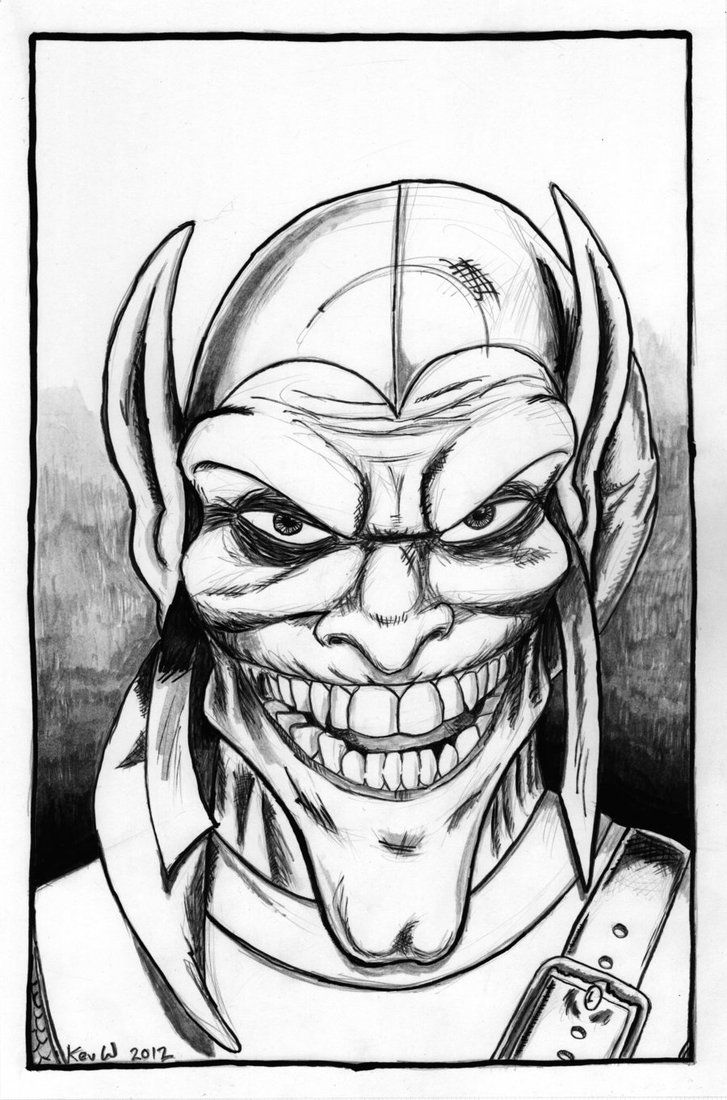 coloring pages green goblin - photo#35