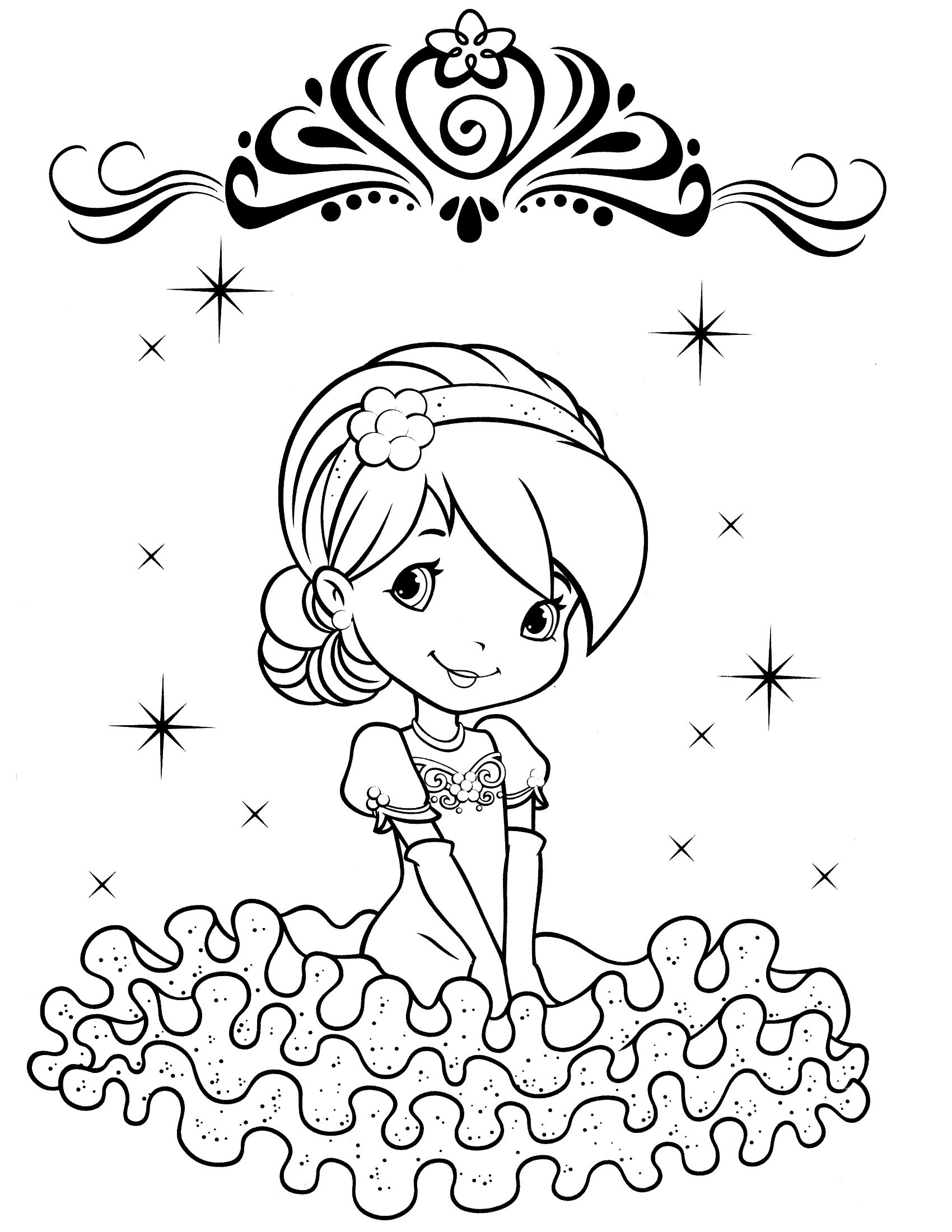 Strawberry Shortcake Cherry Jam coloring page | Free Printable ... | 2200x1700