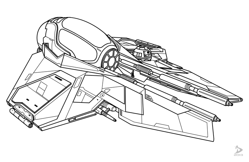 Star wars jedi starfighter coloring pages