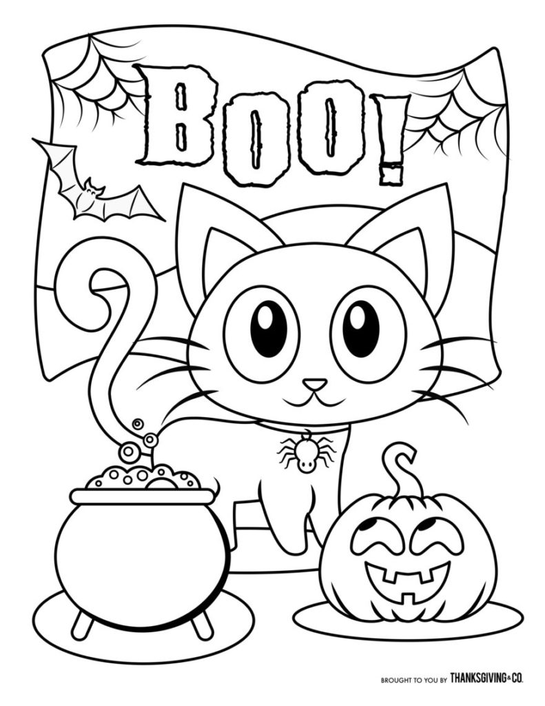 Halloween 2020 Coloring Pages - Coloring Home