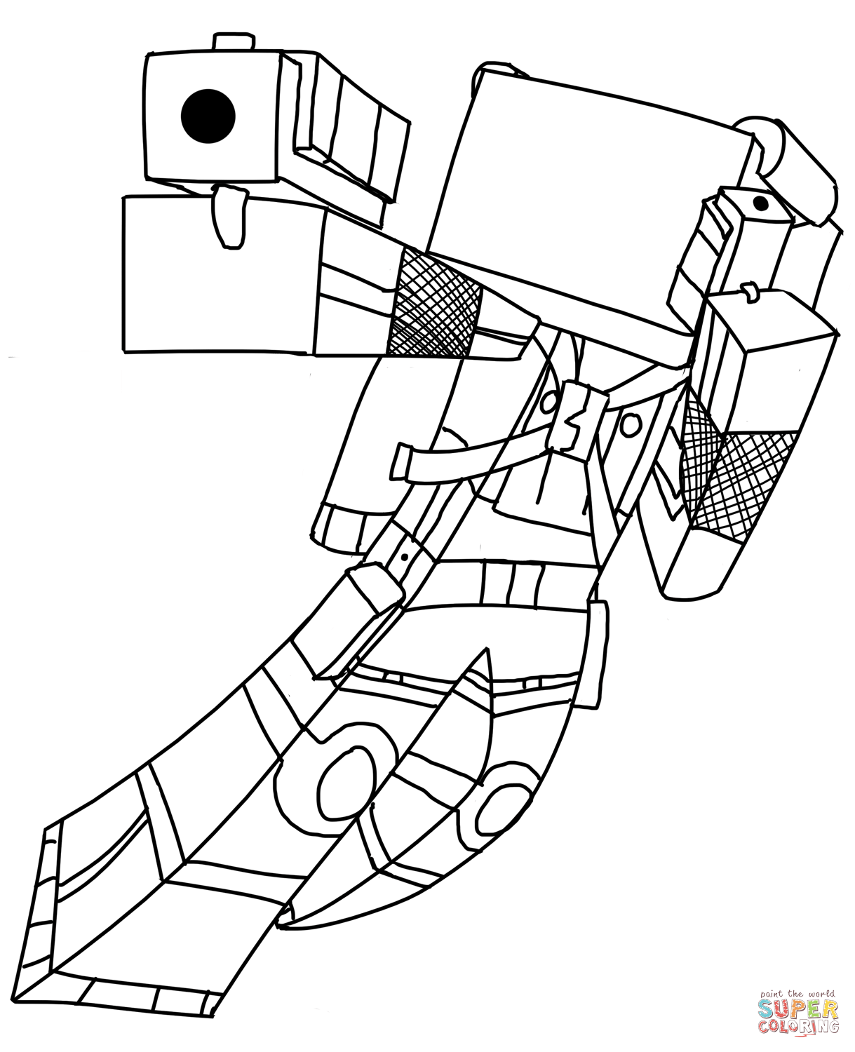 Minecraft Coloring Pages Cat