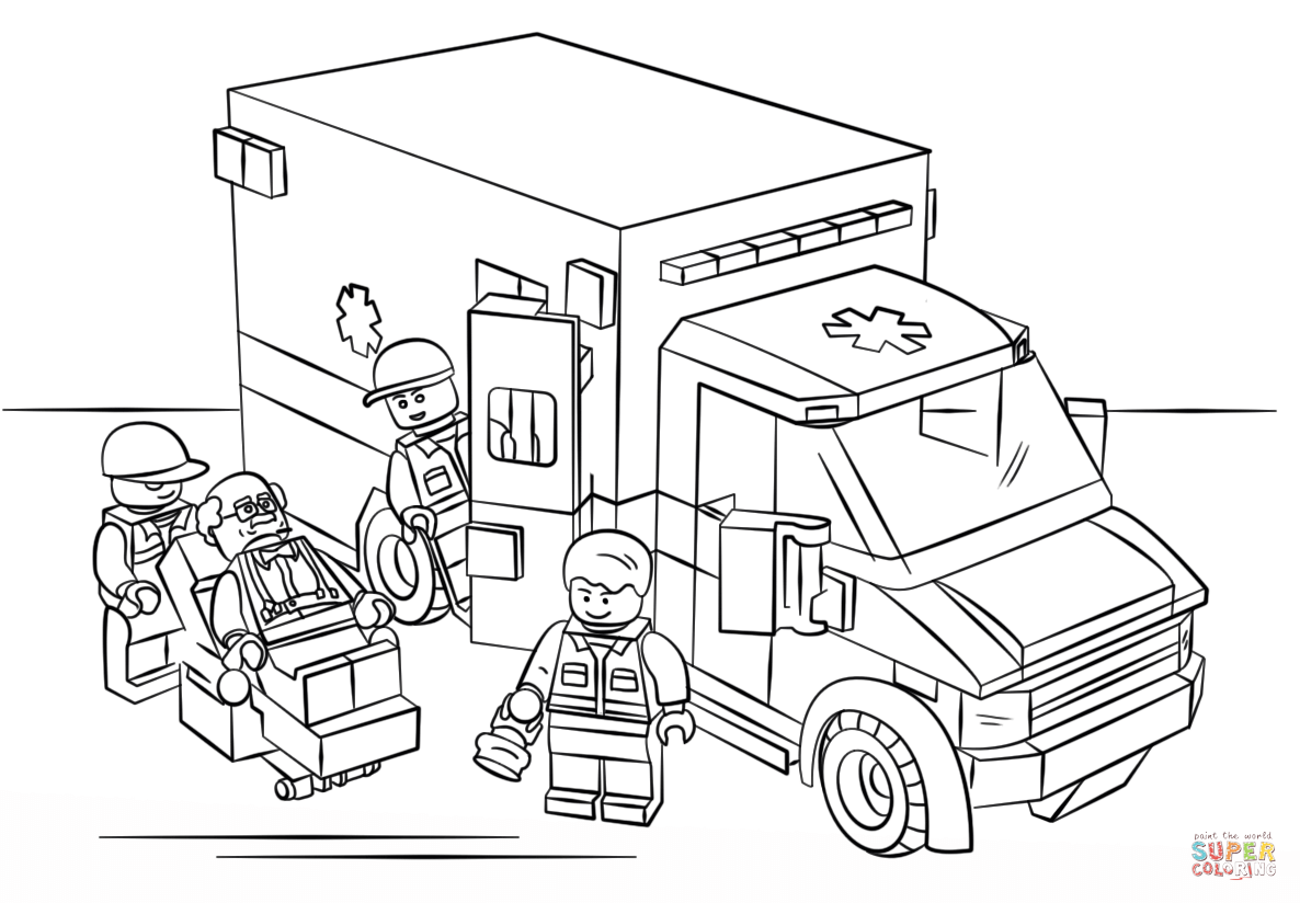 coloring pages ambulance - photo#10
