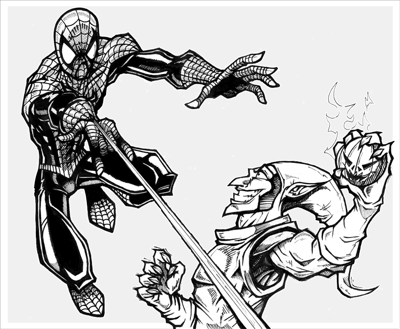 green goblin coloring pages - photo#23