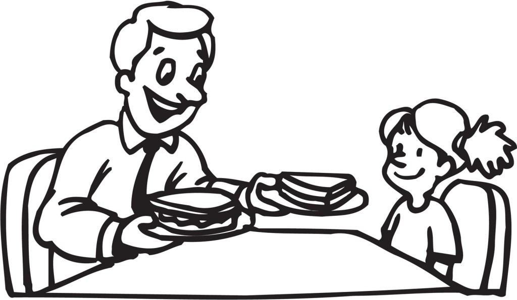 Table Manners Coloring Page - Coloring Home