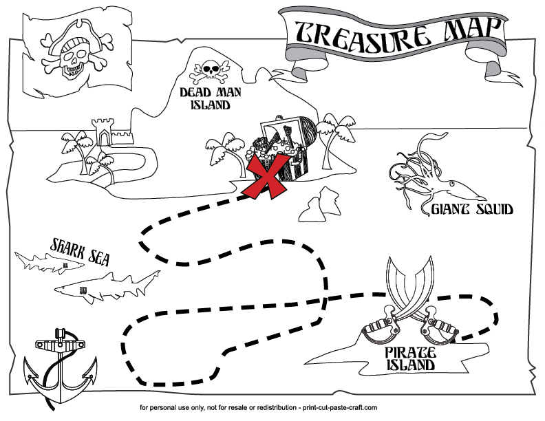 pirate map coloring page - pirate treasure map coloring pages az coloring pages