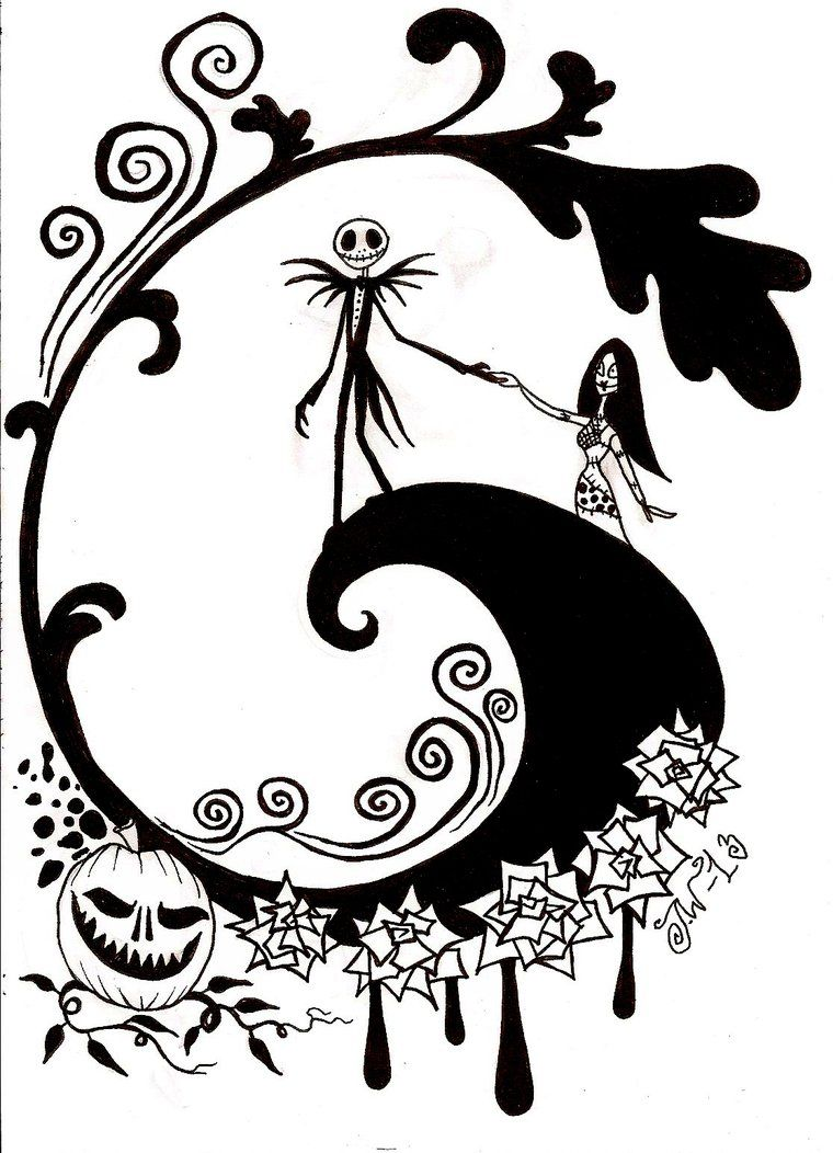 Nightmare Before Christmas Coloring Pages Nightmare Before Christmas Coloring Pages  Coloring Home