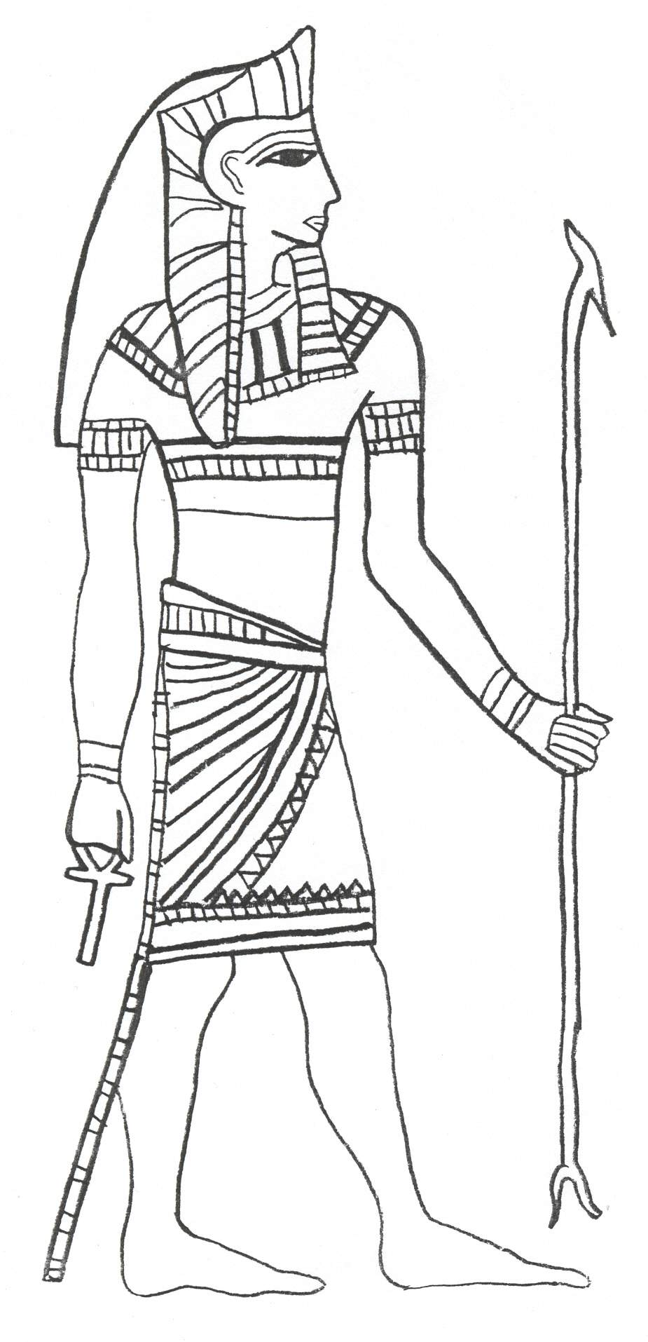 Egyptian pharaoh coloring page coloring home for Egyptian coloring page