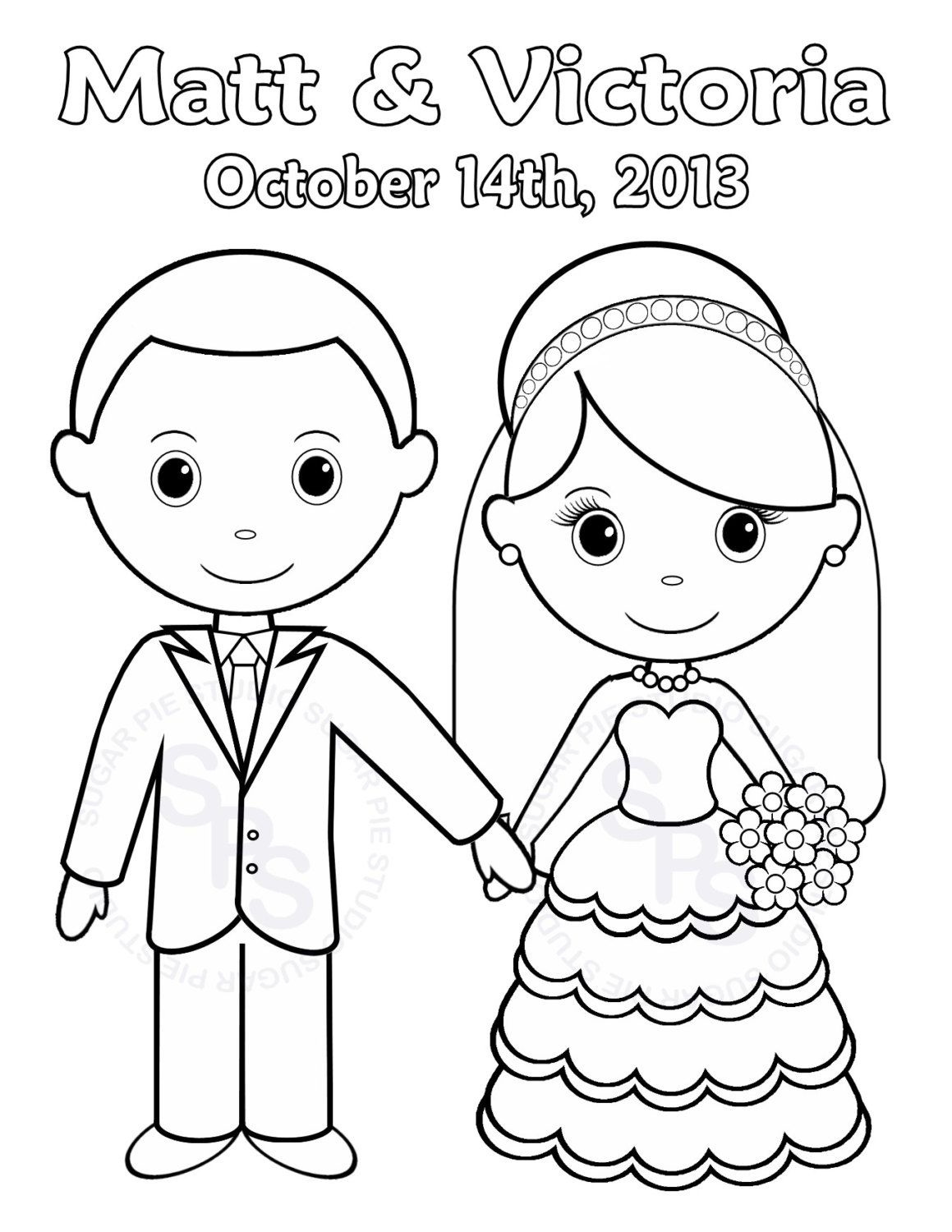 Printable Wedding Coloring Pages Kids - Coloring Home