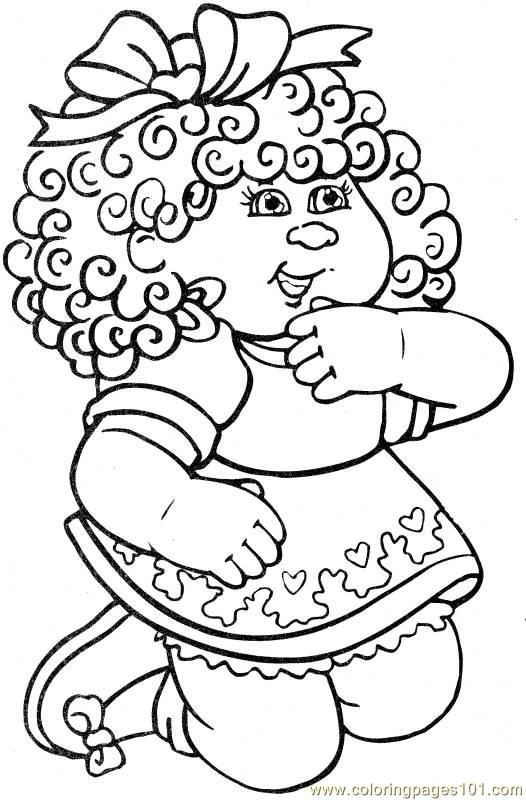 cabbage patch coloring pages - photo#11