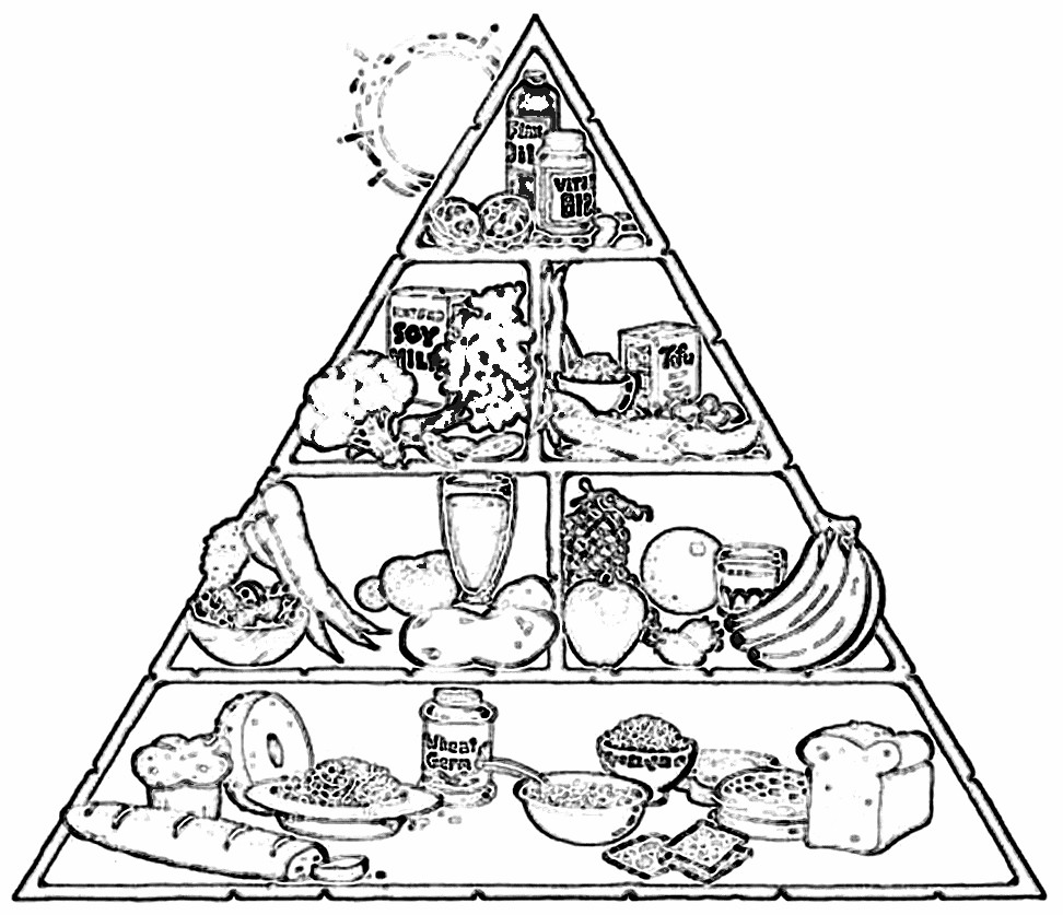 Food Pyramid Coloring Sheet - Coloring Home